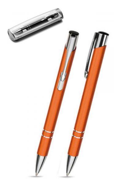 Kugelschreiber LIBO in orange inkl. individueller Gravur - mit Geschenkverpackung