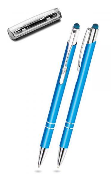 Kugelschreiber LEONI in türkis inkl. individueller Gravur - mit Geschenkverpackung