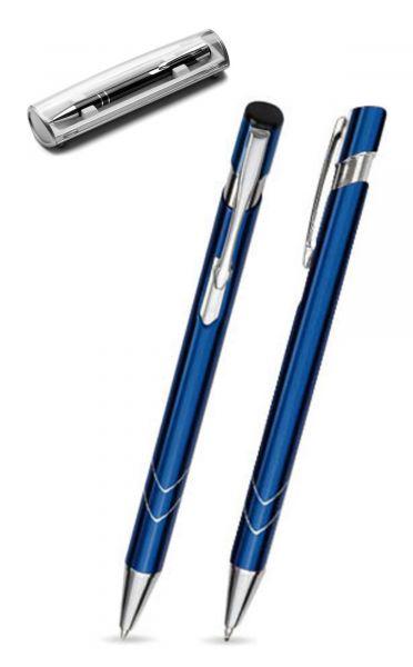 Kugelschreiber LISA in dunkelblau inkl. individueller Gravur - mit Geschenkverpackung