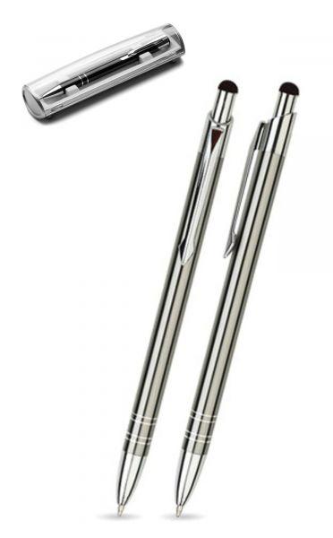 Kugelschreiber LOLA touch in anthrazit inkl. individueller Gravur - mit Geschenkverpackung