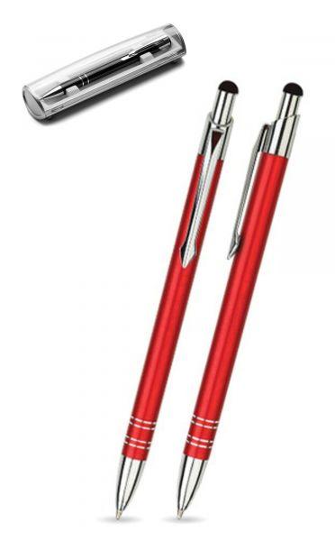 Kugelschreiber LOLA touch in rot inkl. individueller Gravur - mit Geschenkverpackung