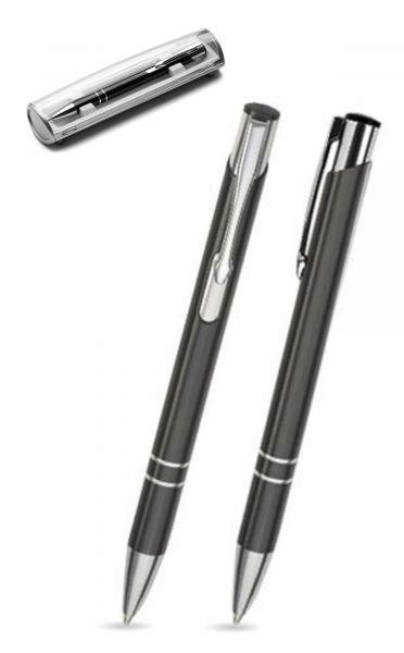 Kugelschreiber LIBO in schwarz inkl. individueller Gravur - mit Geschenkverpackung