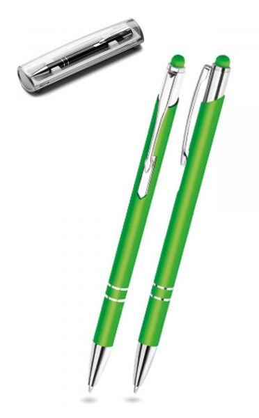 Kugelschreiber LEONI in hellgrün inkl. individueller Gravur - mit Geschenkverpackung