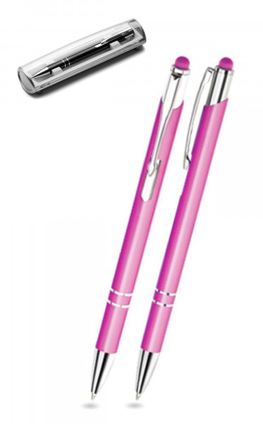 Kugelschreiber LEONI in rosa inkl. individueller Gravur - mit Geschenkverpackung