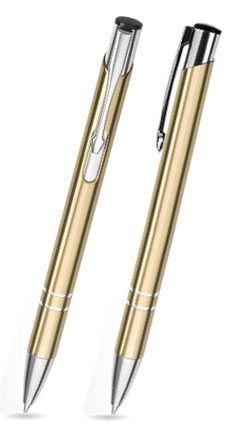 Kugelschreiber LIBO in gold inkl. individueller Gravur - mit Geschenkverpackung