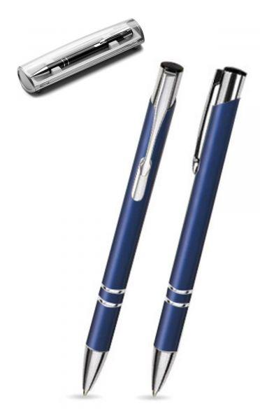 Kugelschreiber LIBO in navy blau inkl. individueller Gravur - mit Geschenkverpackung