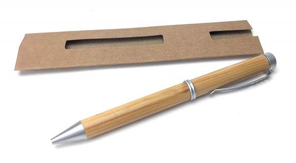 Holz-Kugelschreiber Ocean aus Bambus mit Namensgravur inkl. Geschenkverpackung