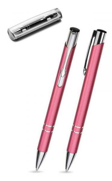 Kugelschreiber LIBO in rosa inkl. individueller Gravur - mit Geschenkverpackung