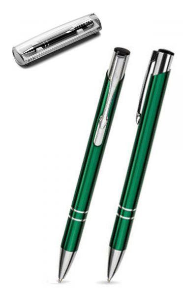 Kugelschreiber LIBO in dunkelgrün inkl. individueller Gravur - mit Geschenkverpackung