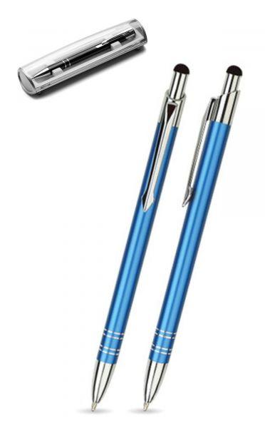 Kugelschreiber LOLA touch in dunkelblau inkl. individueller Gravur - mit Geschenkverpackung