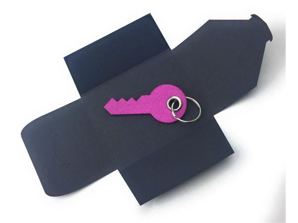 Filz-Schlüsselanhänger - Haus-Tür-Schlüssel - pink - Gravur optional