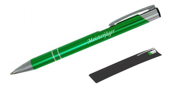 Kugelschreiber LIBO in hellgrün inkl. individueller Gravur - in Samthülle