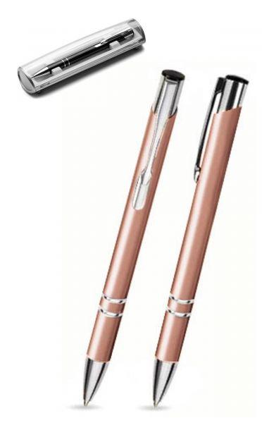 Kugelschreiber LIBO in hautfarben inkl. individueller Gravur - mit Geschenkverpackung