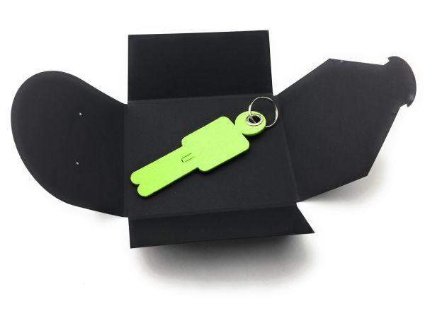 Filz-Schlüsselanhänger - Mann His - lindgrün/grün - Gravur optional
