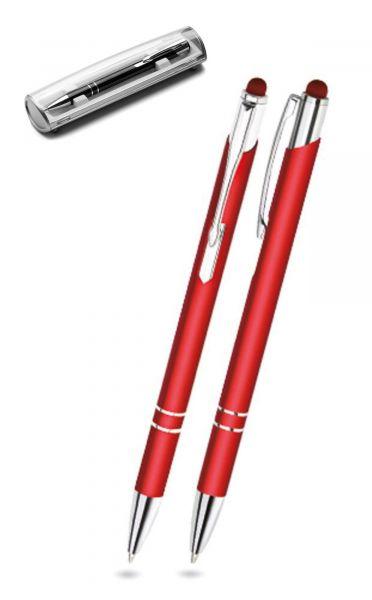 Kugelschreiber LEONI in rot inkl. individueller Gravur - mit Geschenkverpackung