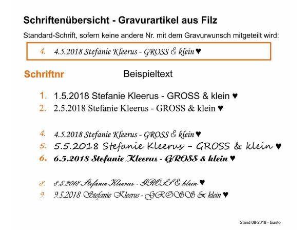 Filz-Schlüsselanhänger - Hase hoppelnd - schwarz - Gravur optional