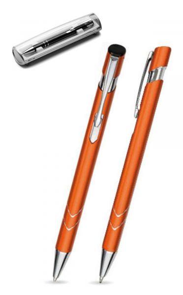 Kugelschreiber LISA in orange inkl. individueller Gravur - mit Geschenkverpackung