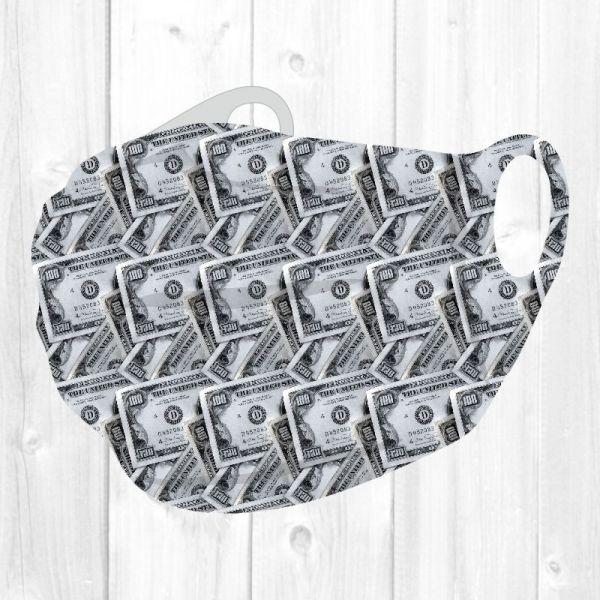 Money Geldschein - Muster Stoffmaske aus 100% Polyester
